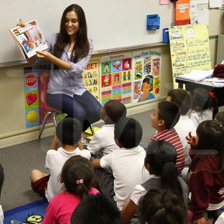 How would you react if a porn actress was to give a reading to first-graders, including your child?