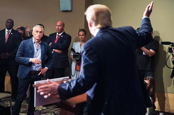 Was Jorge Ramos removed from the Donald Trump's press conference rightfully?