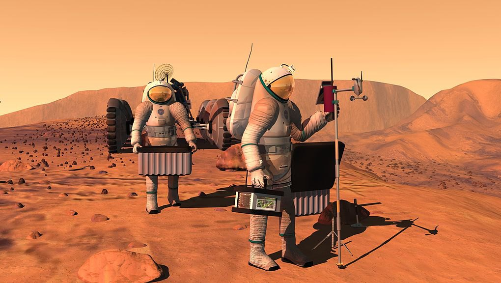When will we have the first man to walk on Mars?