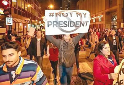 Was it disrespectful to democracy and people who voted for Donald Trump to protest right after the election?